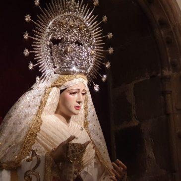 La Virgen del Rosario ya se encuentra en la Concatedral de Santa María tras su restauración